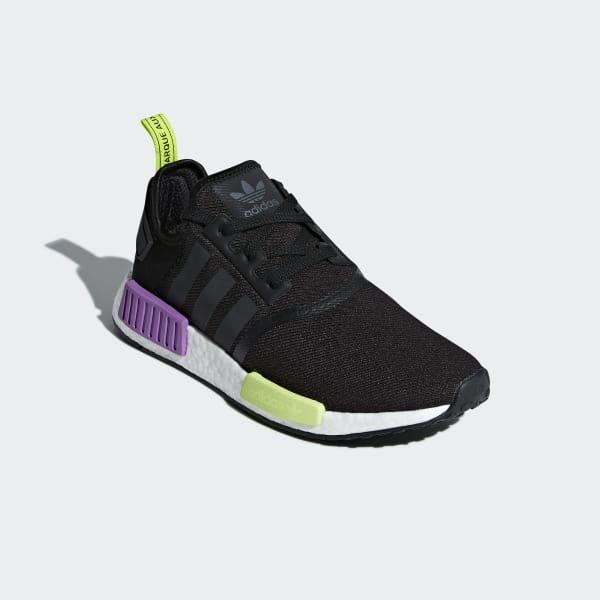 adidas nmd r1 black purple