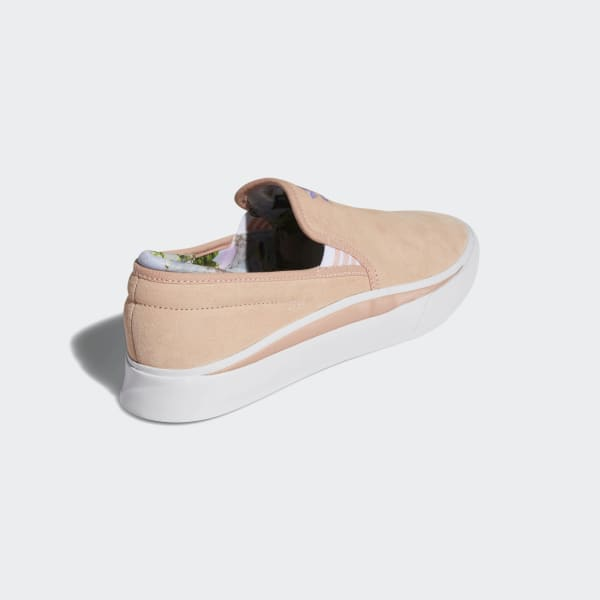 Adidas Sabalo Slip x Nora Skate Shoes Clear OrangeCloud WhiteLight Purple