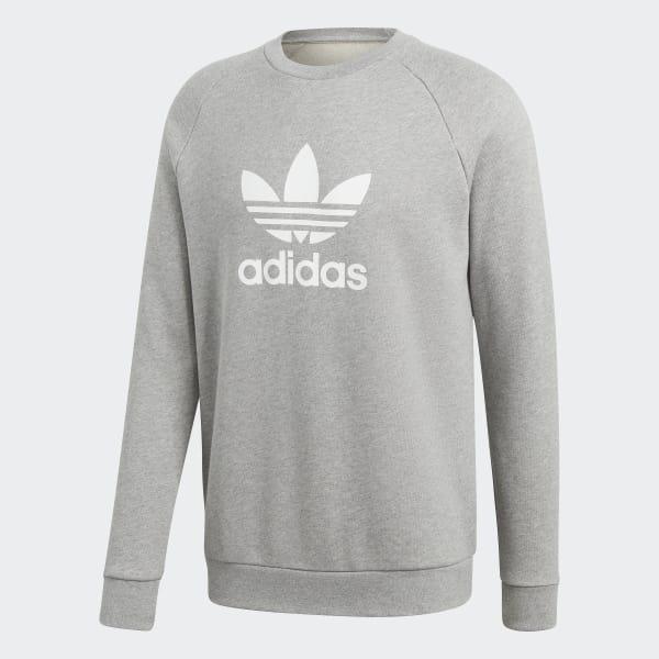 7423d6129dd77 Sweat-shirt Trefoil Warm-Up Crew - gris adidas   adidas France