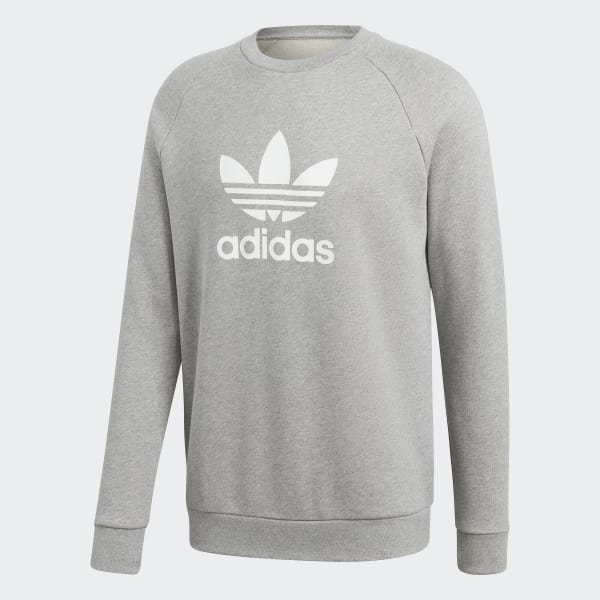 new concept bb136 0fc62 adidas Trefoil Warm-Up Crew Sweatshirt - Grå   adidas Sweden