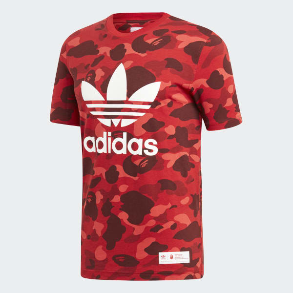 online store 98dcf 76c0a adidas BAPE x adidas Tee - Red | adidas Australia
