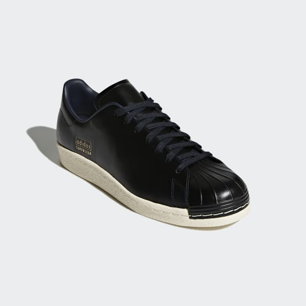 3fcf7fd4a adidas Superstar 80s Clean Shoes - Black