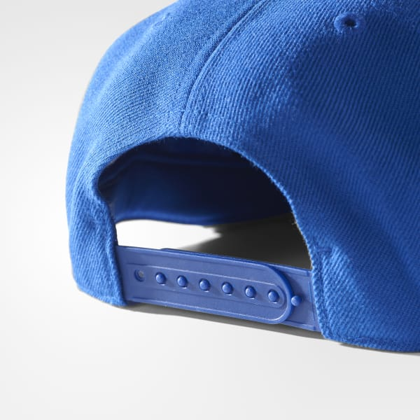 adidas Gorra de Visera Plana - Azul  f3513fb36cf