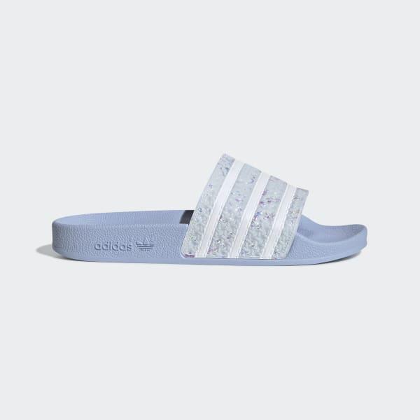 852f8e830 Adilette Luxe Slides.  70. Adilette Luxe Slides Grey Two   Core Black   Gold  Metallic DA8930