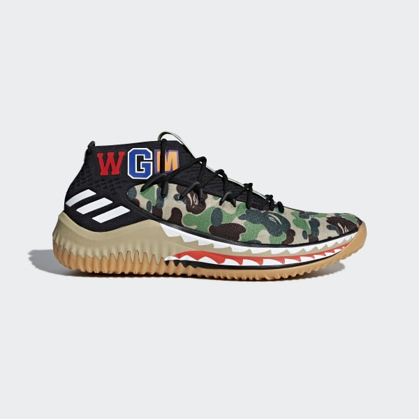 lowest price 889ed ebecc adidas Dame 4 BAPE Shoes - Grey  adidas US