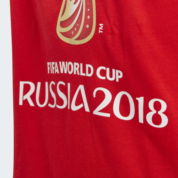 adidas Playera FIFA World Cup Emblem Graphic - Rojo  dea0e3fa7572a