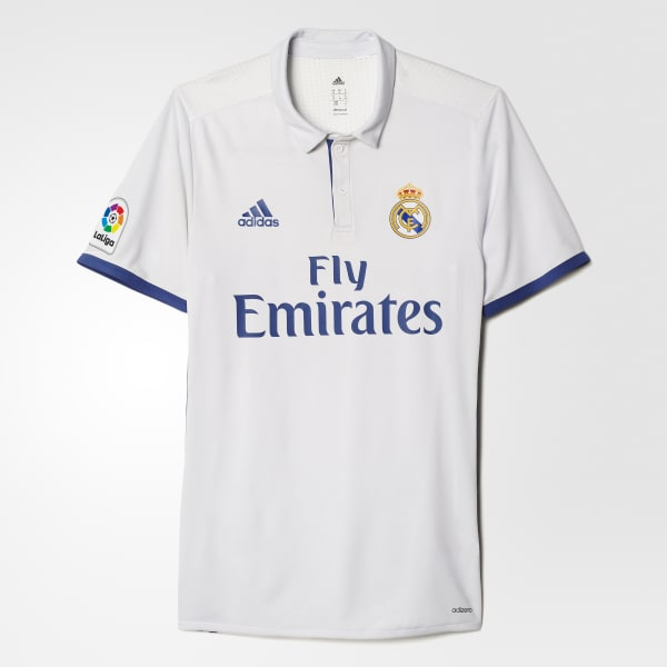adidas Real Madrid Home Authentic Jersey - White  83d6bc4de