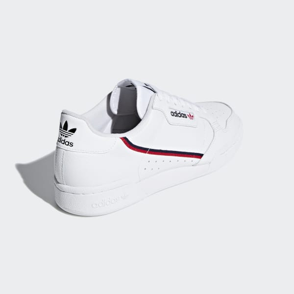 Cloud White, Scarlet & Navy Continental 80 Shoes | adidas US