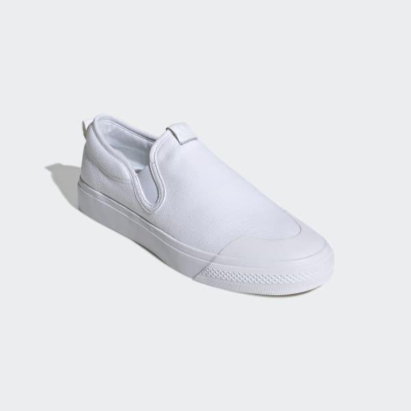 Nizza Slip-On All White Shoes | adidas