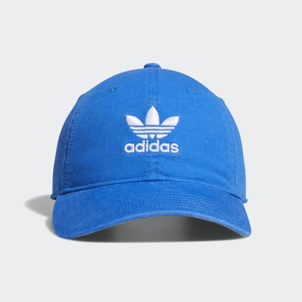 adidas Relaxed Strap-back Hat - Blue  ba9df82fd28