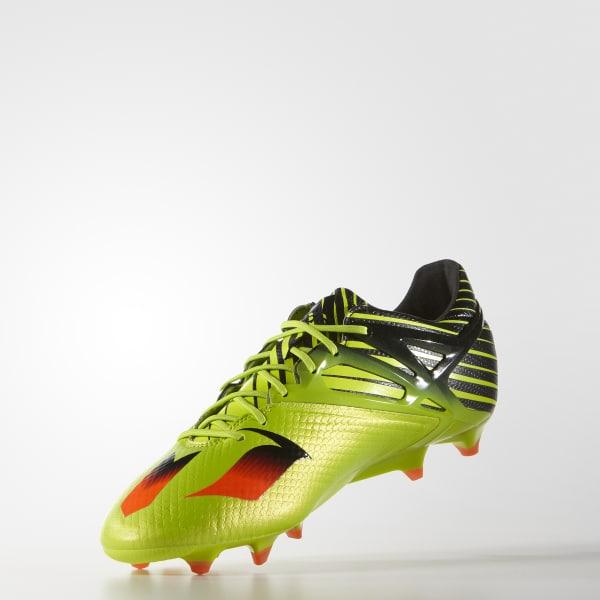 99089d837c9 adidas Men s Messi 15.1 Firm Artificial Ground Boots - Green ...