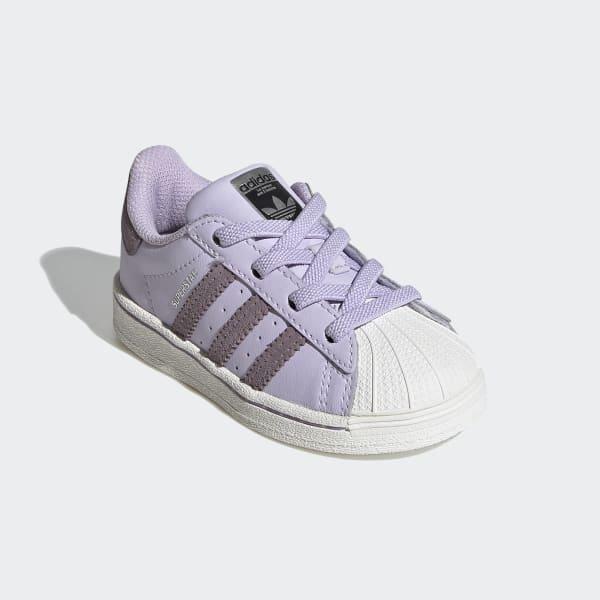 adidas superstar slip on purple