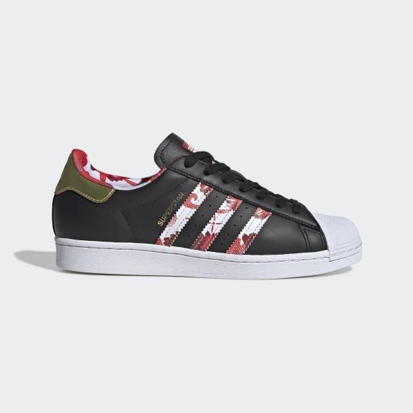 Adidas Superstar Originals Sko Jente Blå Svart Billig