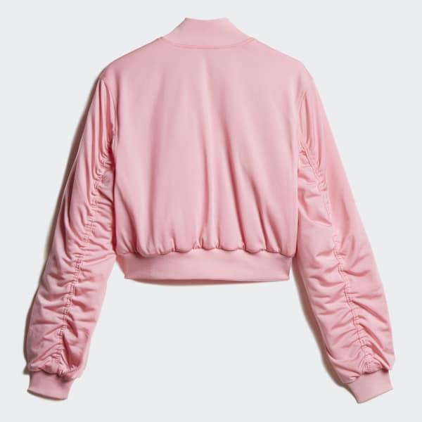 8e99866c59c adidas Cropped Bomber Jacket - Pink