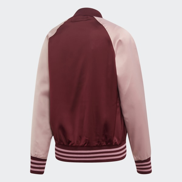 Satin Bomber Track Jacket