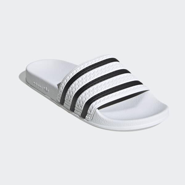 Claquettes Adilette blanches et noires   adidas France