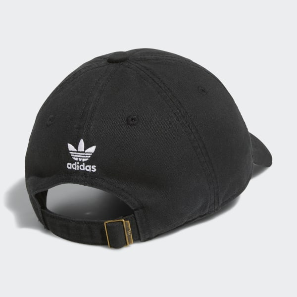 adidas Originals Relaxed Strap-Back Hat - Black  1f0cd42c7fe
