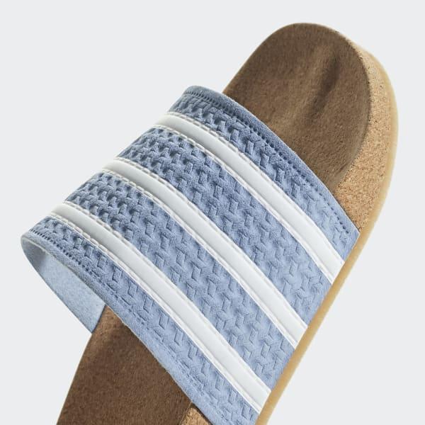 acc941ebca1ab adidas Adilette Cork Slides - Blue