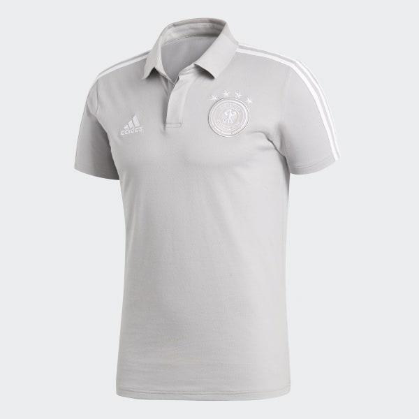 Camisa Polo Alemanha 2018 - Cinza adidas  c1fb9b419353c