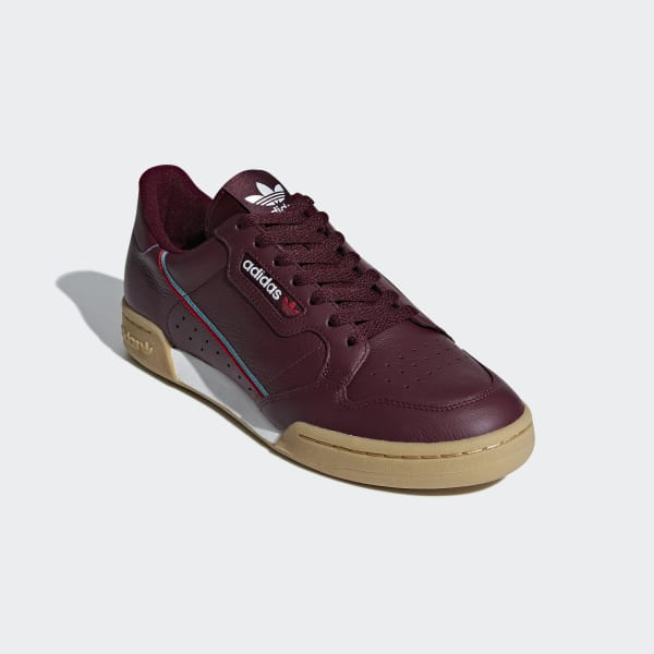 adidas Continental 80 Shoes - Burgundy