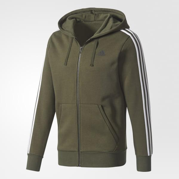 0eeb0a747d4f adidas Essentials 3-Stripes Fleece Hoodie - Green | adidas US
