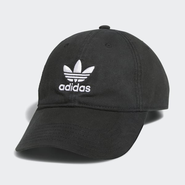 adidas Originals Relaxed Strap-Back Hat - Black  695fcbcfd56