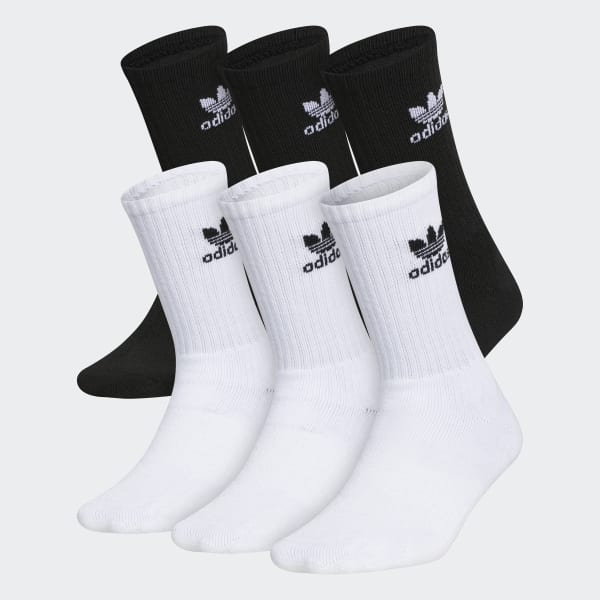 adidas Trefoil Crew Socks 6 Pairs - White   adidas US