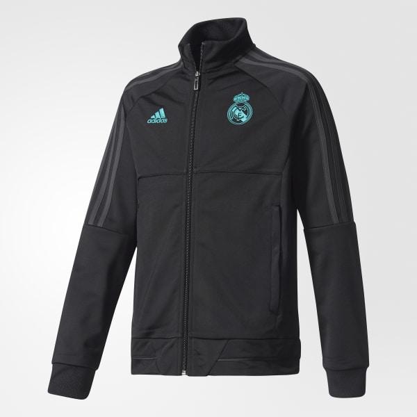 Conjunto Chaqueta y Pantalón Real Madrid - Negro adidas  2bca8ce8ed4ac