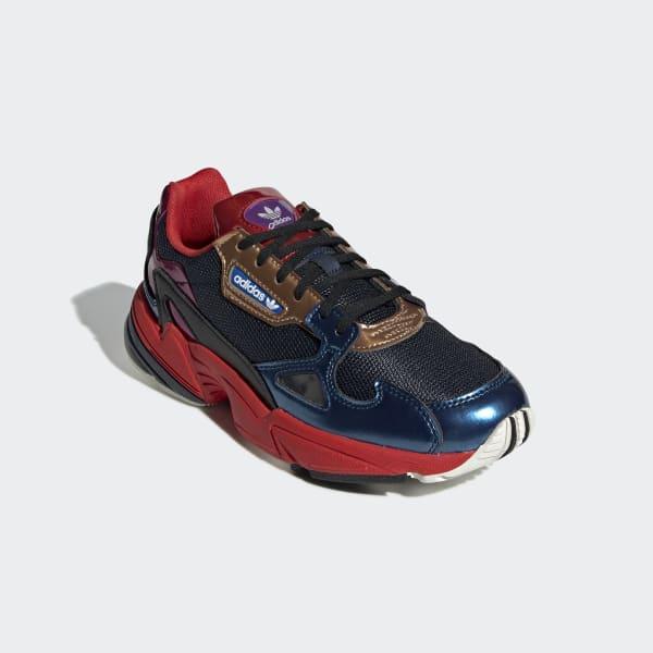 adidas falcon rosse blu