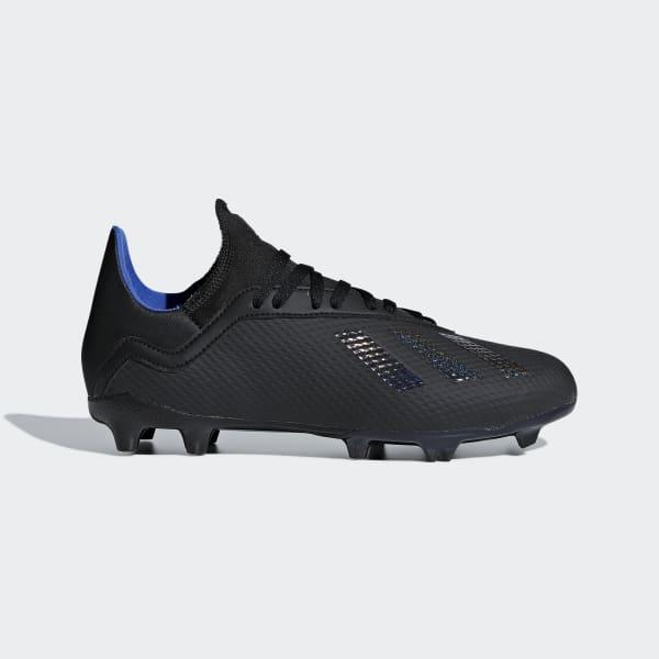 Bota de fútbol X 18.3 césped natural seco - Negro adidas  f977d51a9c4dc