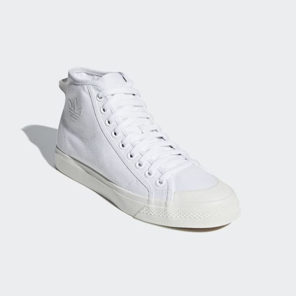 grossiste 7e3d2 049ce adidas Nizza High Top Shoes - White | adidas US