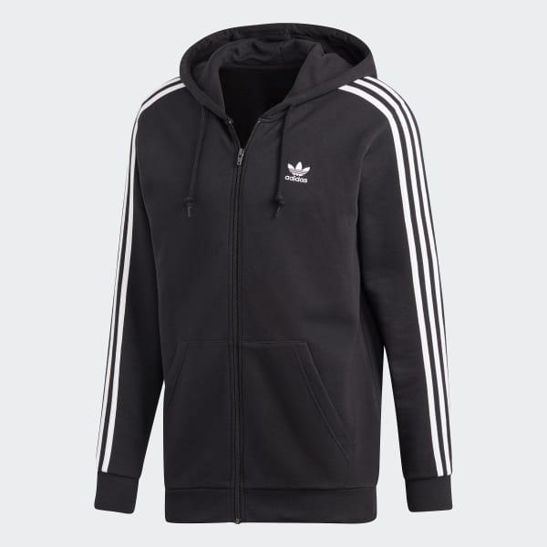 Sweat-shirt à capuche 3-Stripes - Noir adidas