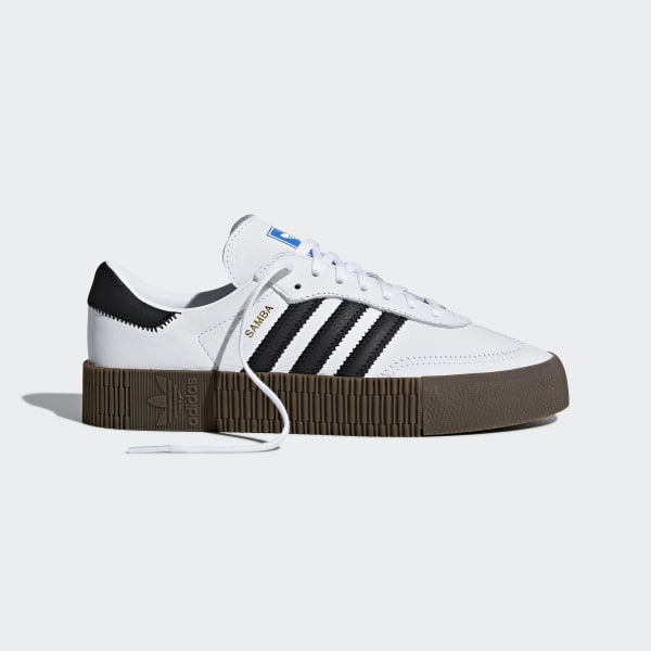 Billiga Adidas Originals Skor Outlet,Dam Samba Vit