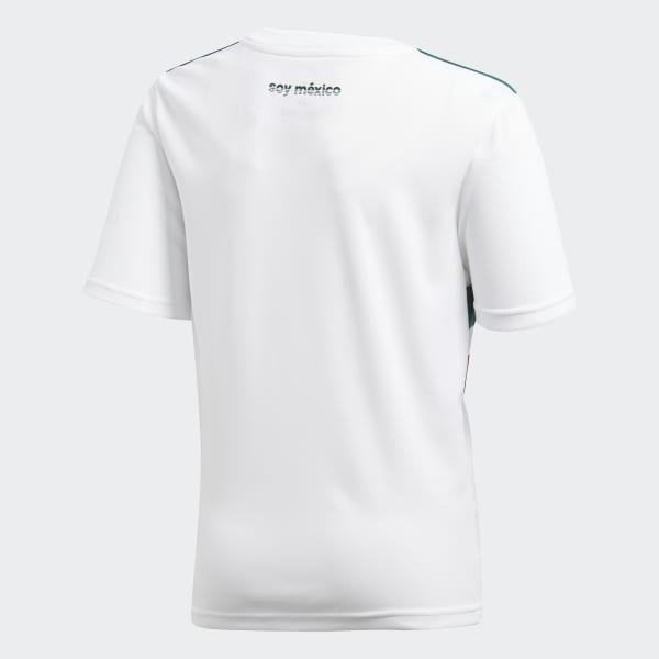 adidas Jersey Oficial Selección de México Visitante Niño 2018 - Blanco  c4073754d1d86