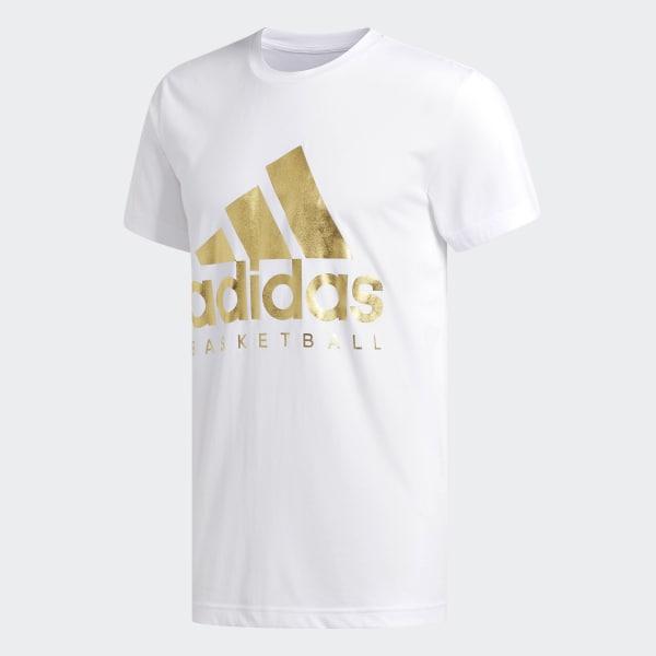 e63aea58 adidas Gold Foil Badge of Sport Tee - White | adidas US