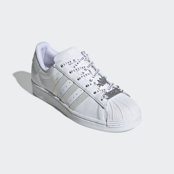 Superstar White Shoes with Lace Jewels