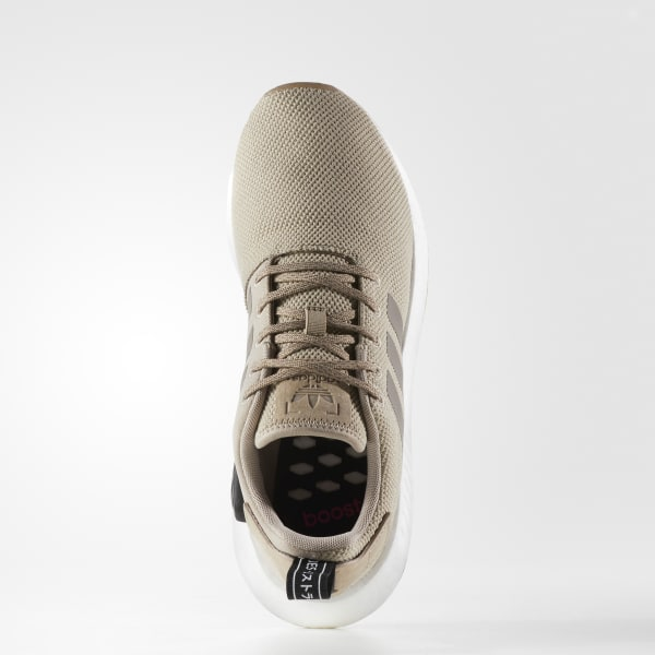 adidas originals nmd r2 trainers in beige by 9916