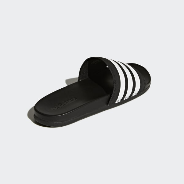 8e9062cf4836 adidas Adilette Cloudfoam Plus Stripes Slides - Black