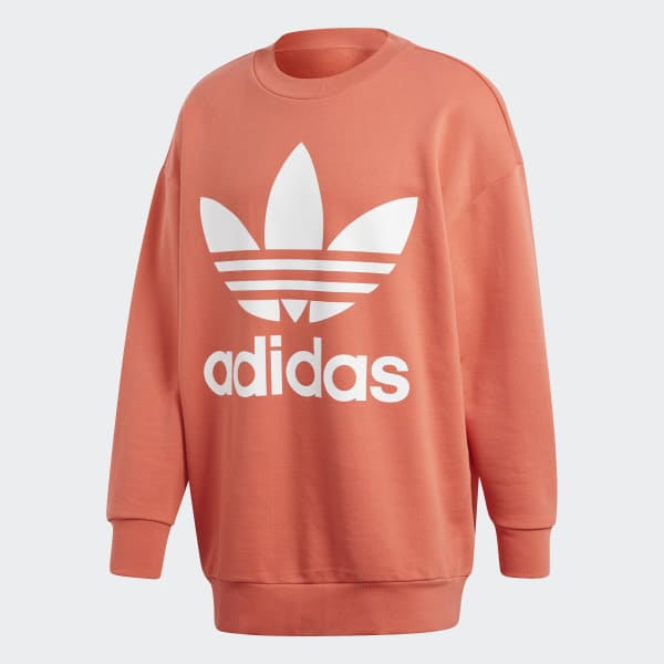 new cheap los angeles discount sale adidas Oversize Trefoil Sweatshirt - Red | adidas US