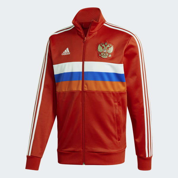 Chaqueta 3 Rayas Selección de Rusia 2018 Rojo adidas | adidas Chile