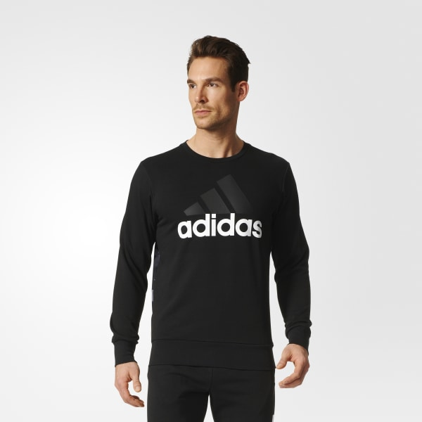600870d7df Blusa Moletom Essentials Linear - Preto adidas