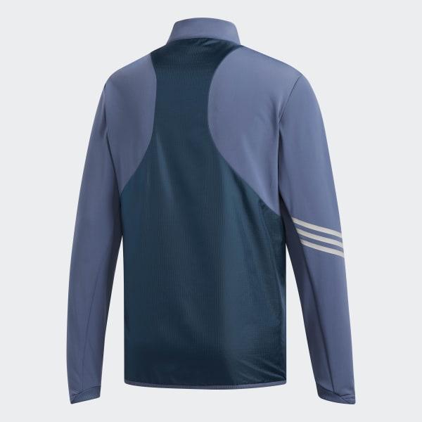 328753104 adidas Climaheat Frostguard 1 4 Zip Pullover Shirt - Blue
