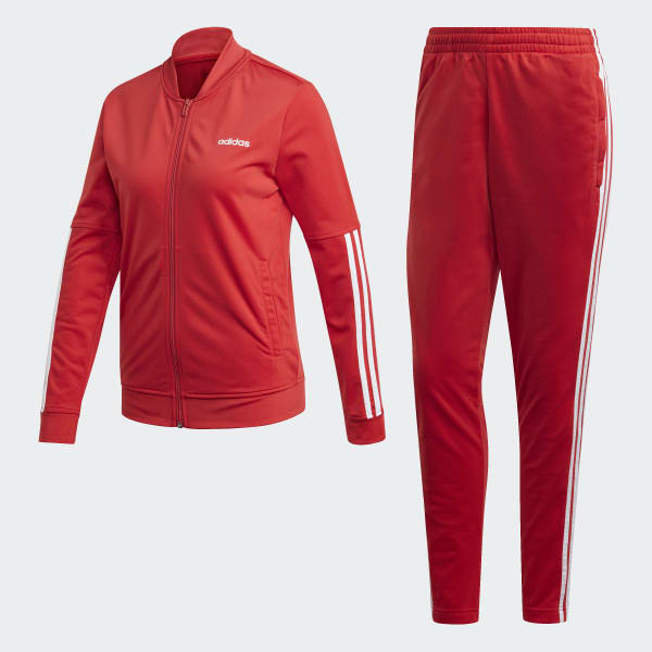 Parco Naturale Leccare spesso  adidas Back 2 Basics 3-Stripes Tracksuit - Red | adidas UK