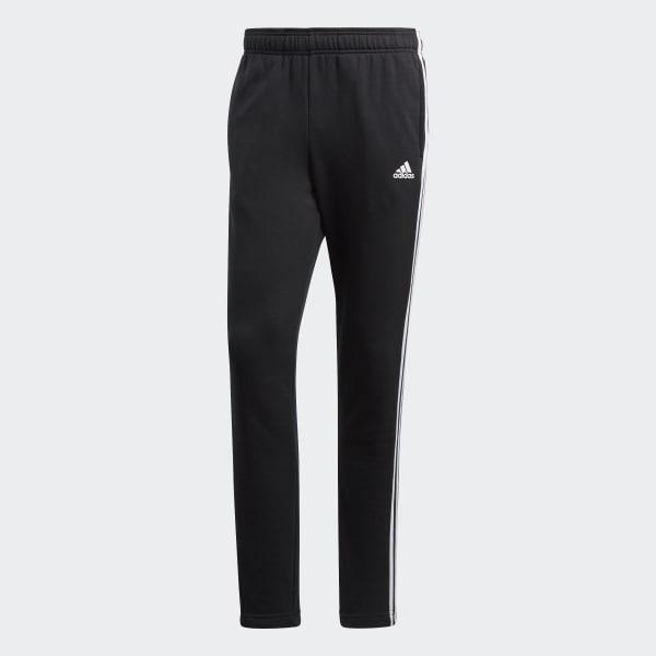 Calça Essentials 3 Stripes Moletinho Preto adidas | adidas Brasil