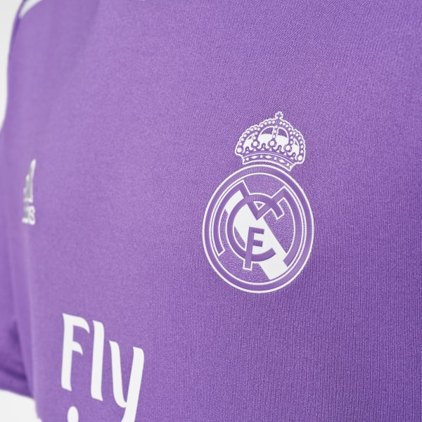 adidas Youth Real Madrid Away Replica Jersey - Purple  0affda80a41b1