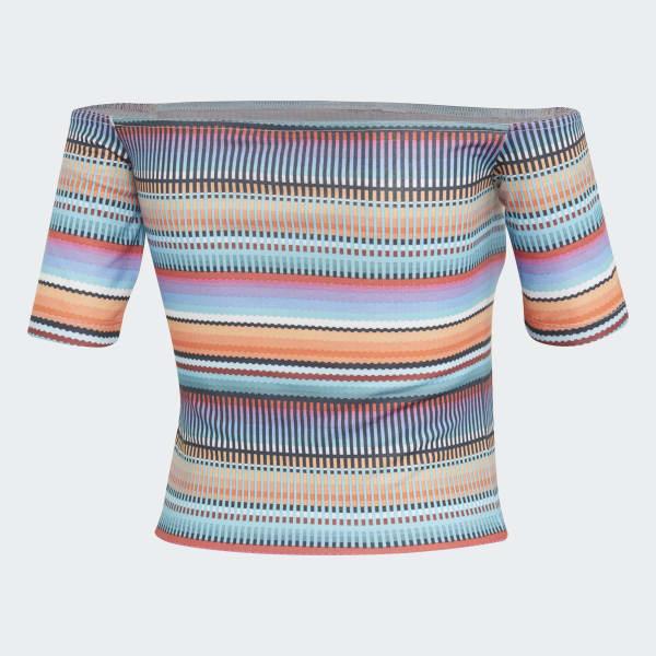 9bdbc374464 Camiseta Off-the-shoulder - Multicores adidas