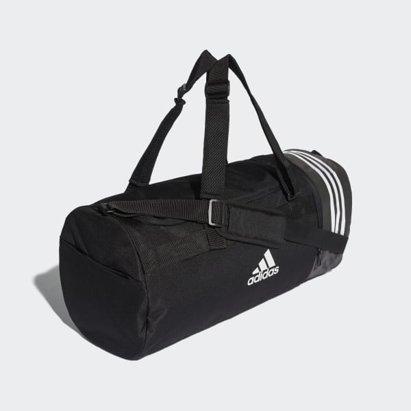 49bcc323906 adidas Convertible 3-Stripes Duffel Bag Medium - Black | adidas ...