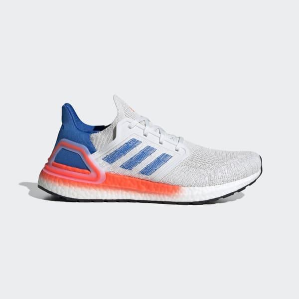 adidas ultra boost white white blue