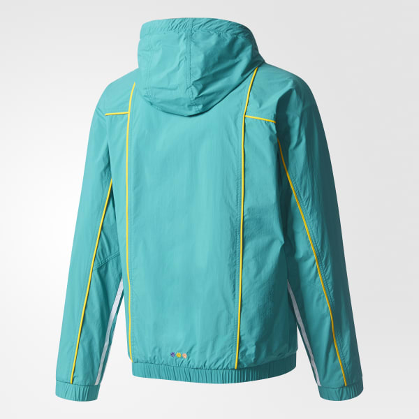 4766b420f53bb adidas Men s Pharrell Williams Hu Hiking Packable Windbreaker - Green