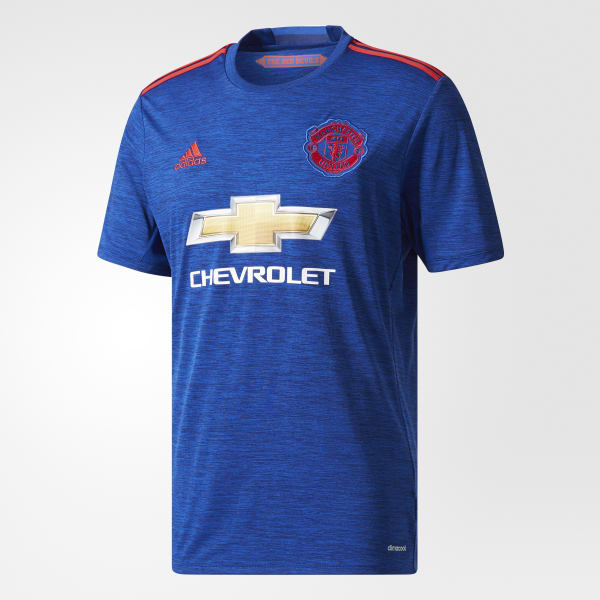 adidas Manchester United FC Away Jersey - Blue  857d7bbb320c2
